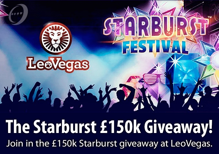 Join in the £150k Starburst giveaway at LeoVegas