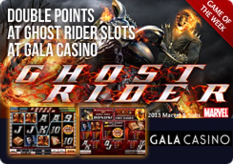 Double Points at Ghost Rider Slots at Gala Casino