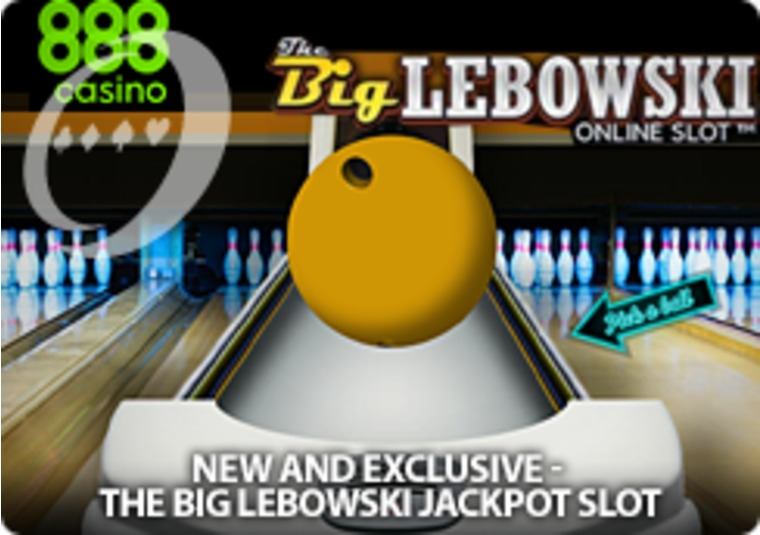 Play The Big Lebowski jackpot slot at 888casino with £6k in free play