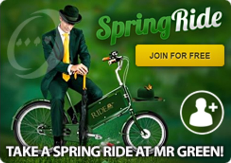 Take a Spring Ride at Mr Green