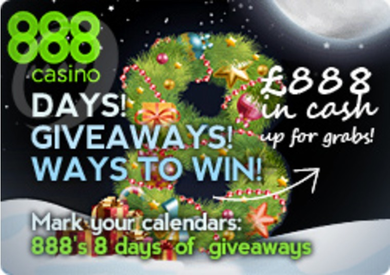8 Days of Giveaways at 888 Casino