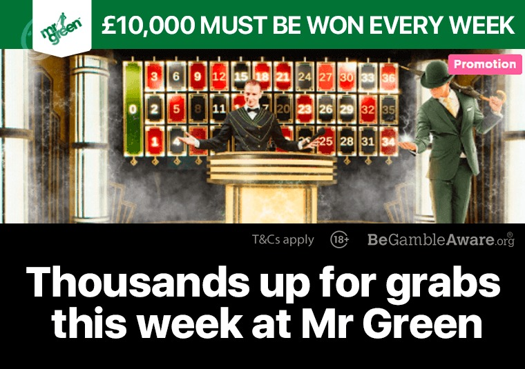 Thousands up for grabs this week at Mr Green