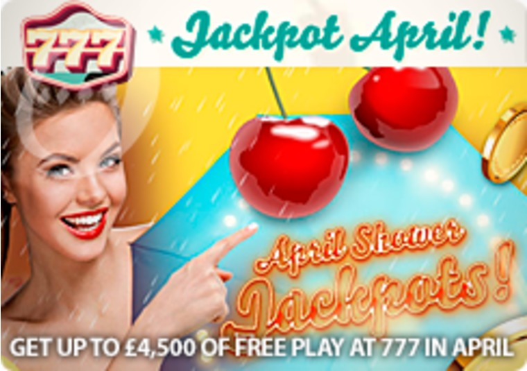 Get up to £4,500 of free play at 777 in April