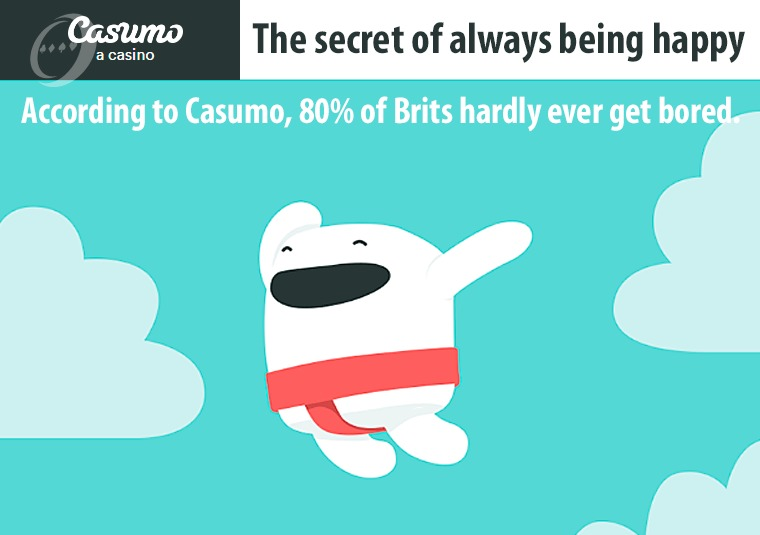 According to Casumo, 80% of Brits hardly ever get bored