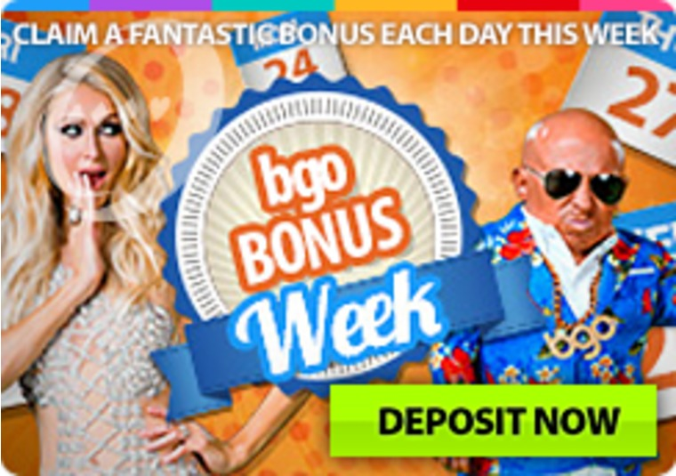 Get a new bonus every day you make a deposit at bgo casino