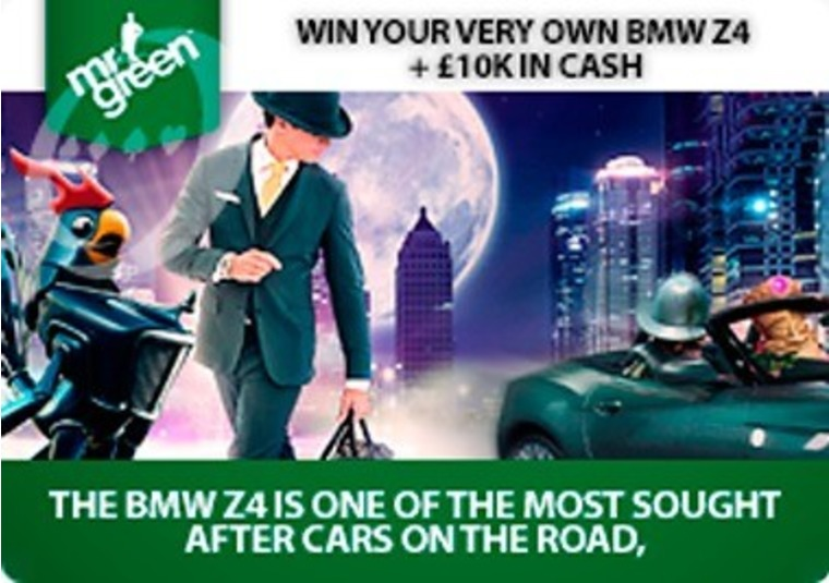 Win a BMW Z4 by playing casino games at Mr Green