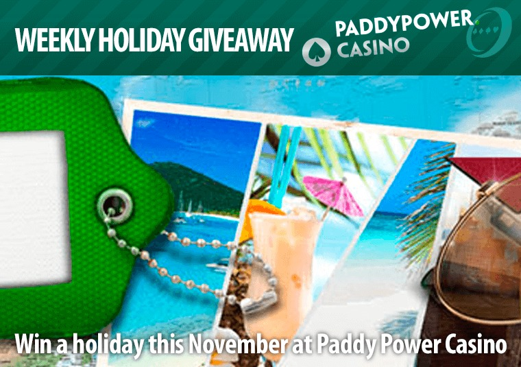 Win a holiday this November at Paddy Power Casino