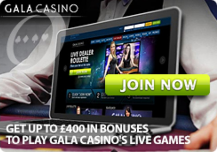 Get up to £400 in Bonuses to Play Gala Casino's Live Games