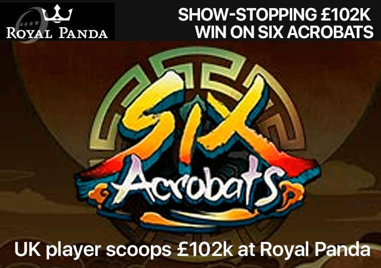 UK player scoops £102k at Royal Panda