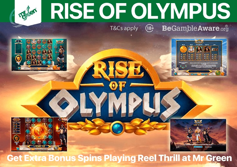 Play the new Rise of Olympus slot at Mr Green