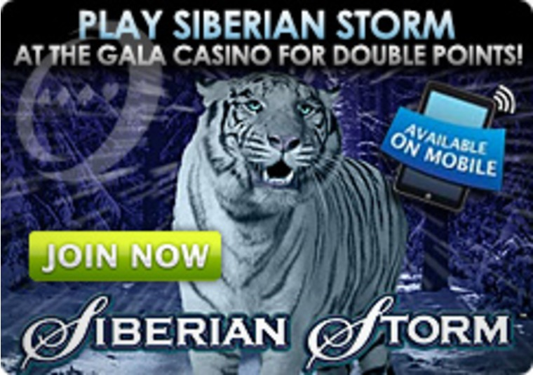 Play Siberian Storm at the Gala Casino for Double Points