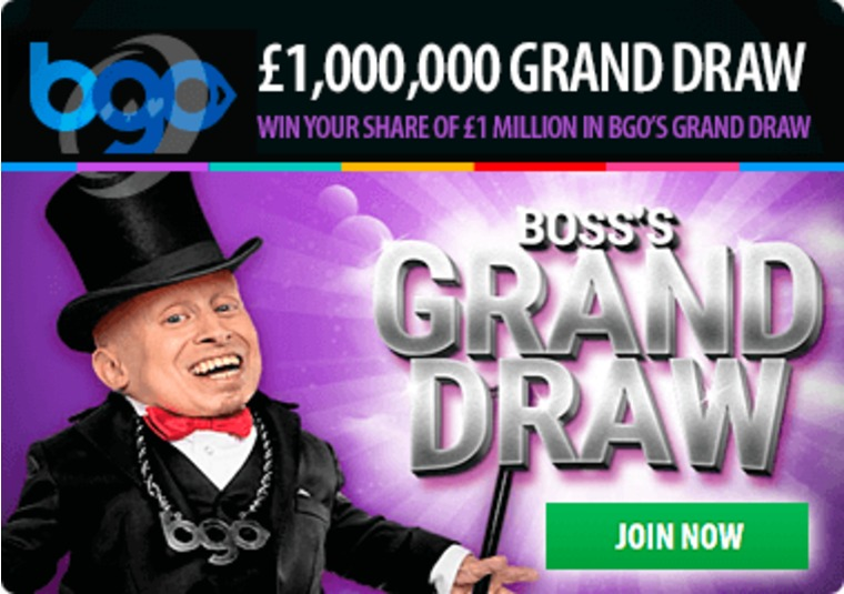 Win your share of £1 million in bgo's grand draw