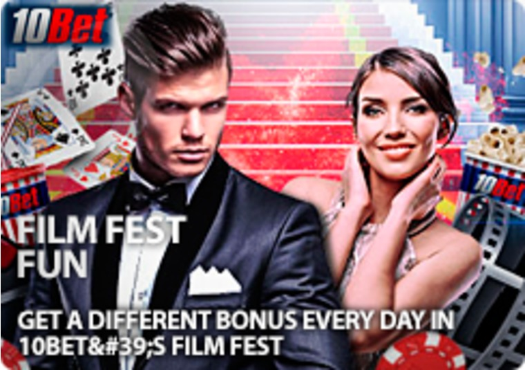 Get a different bonus every day in 10Bet's Film Fest