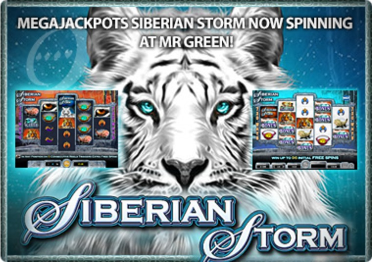 MegaJackpots Siberian Storm Now Spinning at Mr Green