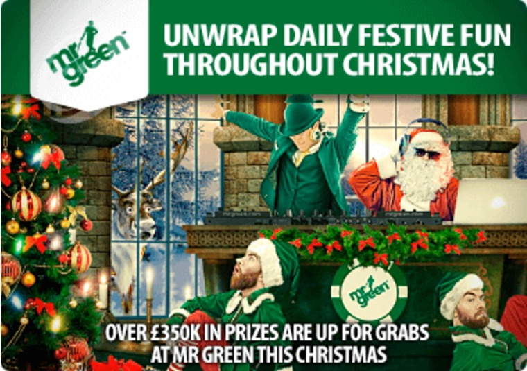 Over £350k in prizes are up for grabs at Mr Green this Christmas