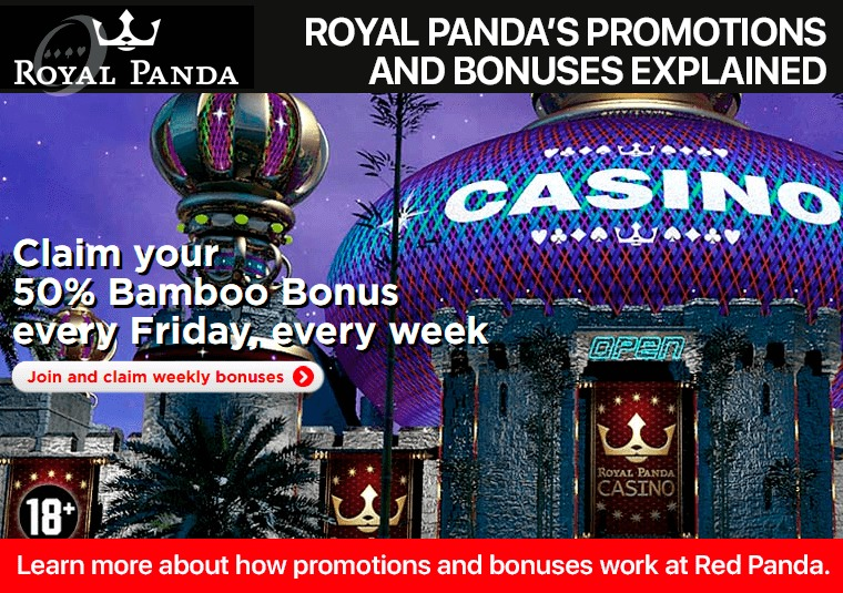 Learn more about how promotions and bonuses work at Red Panda