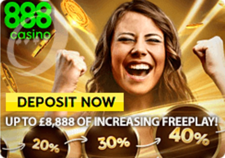 888casino is offering up to £8,888 in free play