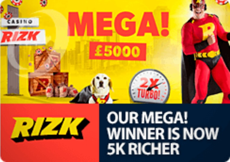 Rizk announces the winner of its £5,000 prize draw