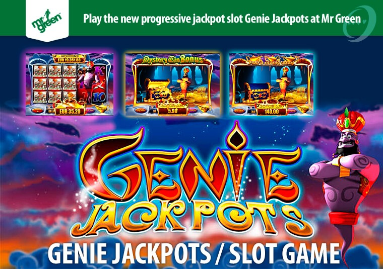Play the new progressive jackpot slot Genie Jackpots at Mr Green
