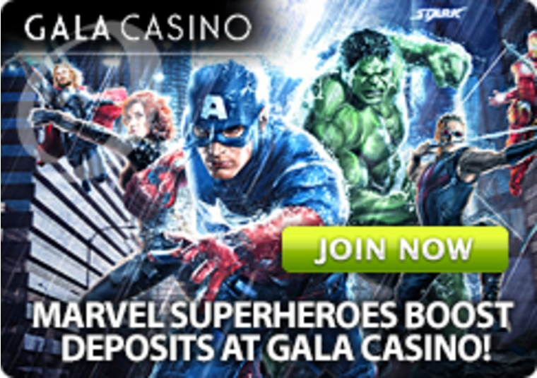 Marvel Superheroes Boost Deposits at Gala Casino