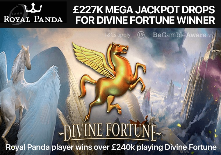 Royal Panda player wins over £240k playing Divine Fortune
