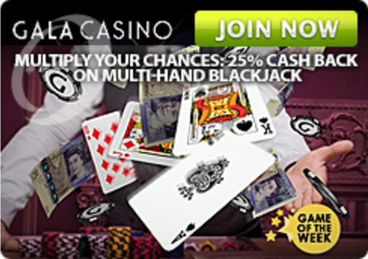 Get up to £100 in bonuses when you play blackjack at Gala Casino