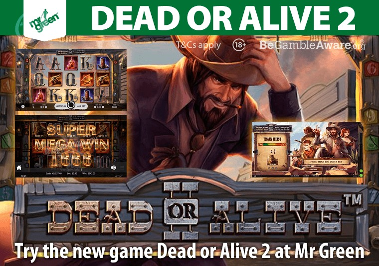 Try the new game Dead or Alive 2 at Mr Green