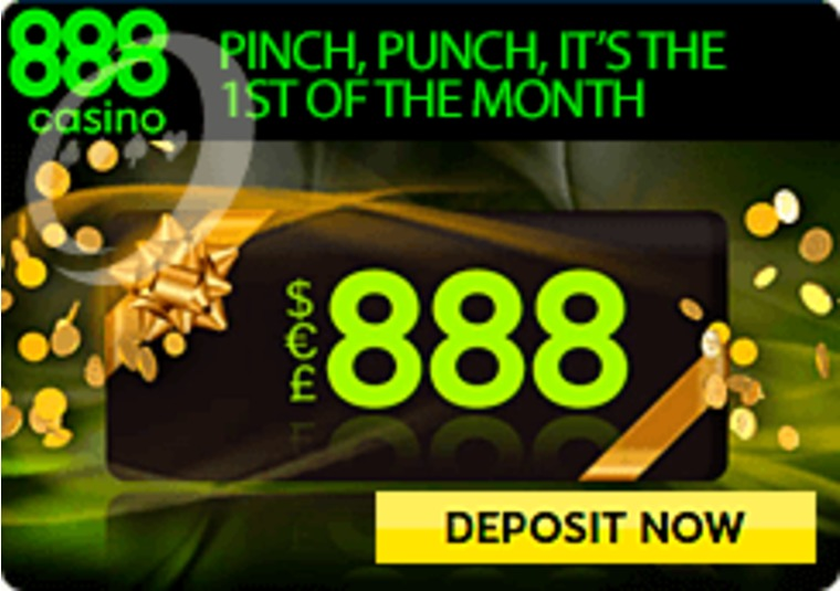 Win a share of £888 on the first of the month at 888casino