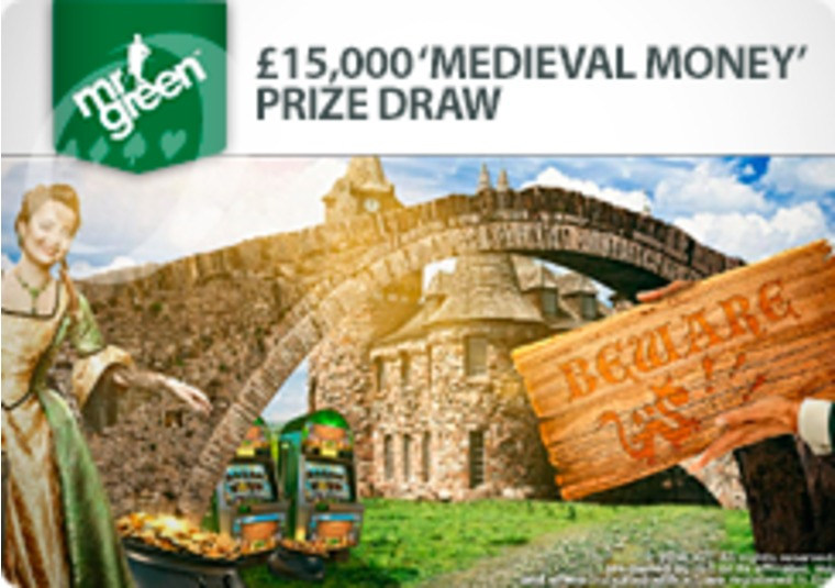 Win cash prizes playing the new Medieval Money slot at Mr Green