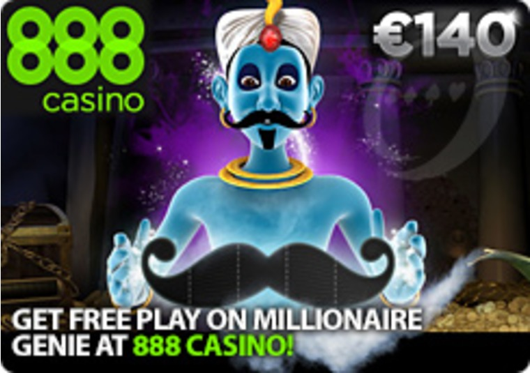 Get Free Play on Millionaire Genie at 888 Casino