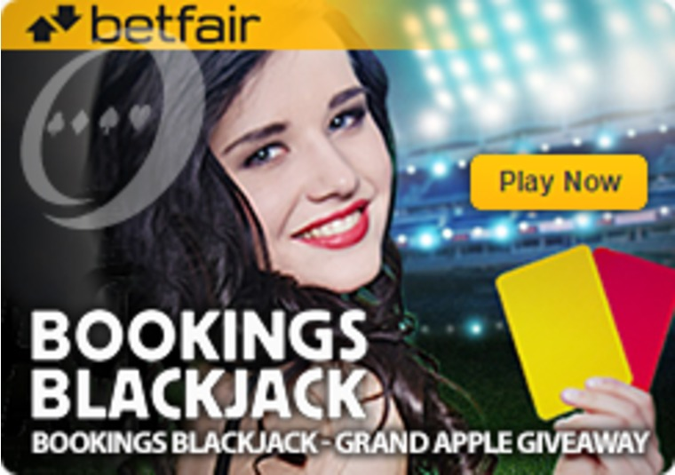 Win big in the Betfair Casino Bookings Blackjack Grand Apple Giveaway