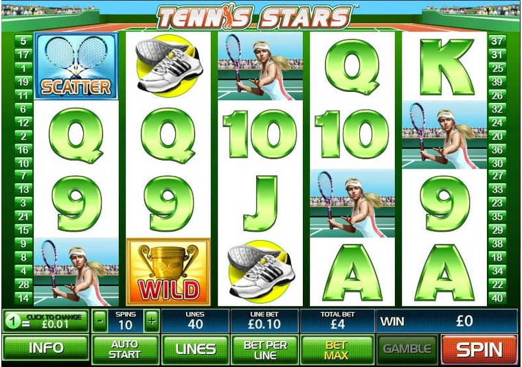 Tennis Stars at Bet365 Casino