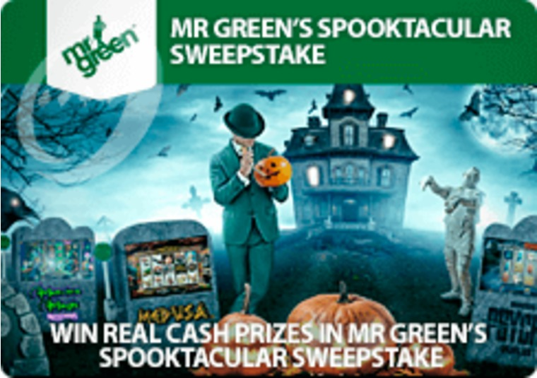 Win real cash prizes in Mr Green's Spooktacular Sweepstake