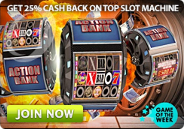 Gala Casino, is offering 25% cash back plus double comp points.