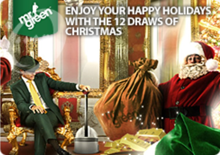 Get into the festive spirit with the Happy Holidays game at Mr Green
