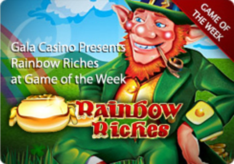 Gala Casino Presents Rainbow Riches at Game of the Week