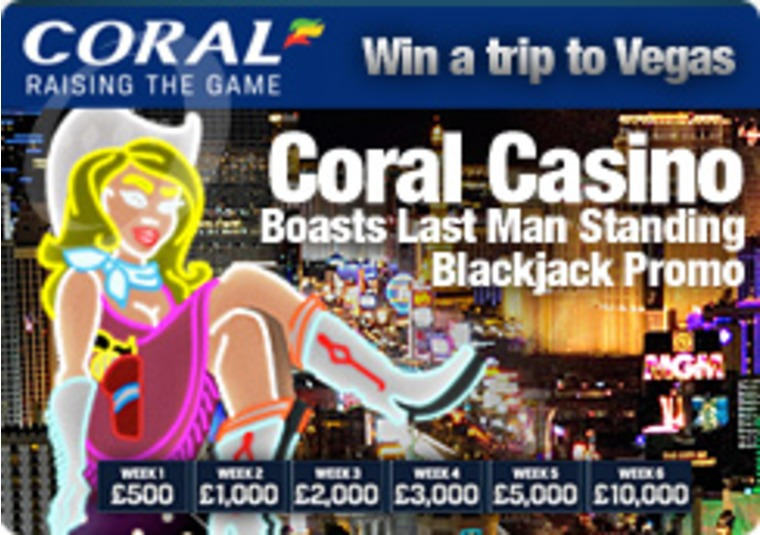 Coral Casino Boasts Last Man Standing Blackjack Promo
