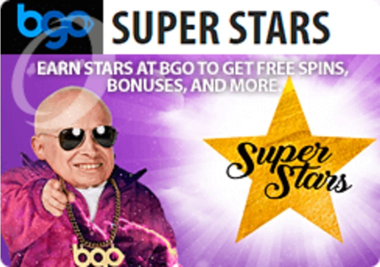 Earn stars at bgo to get free spins, bonuses, and more