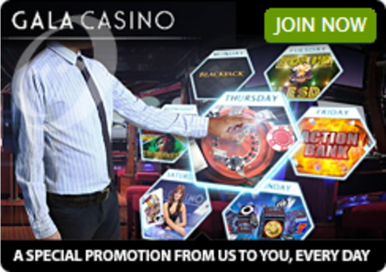 Get a Different Special Offer From Gala Casino Every Day of the Week