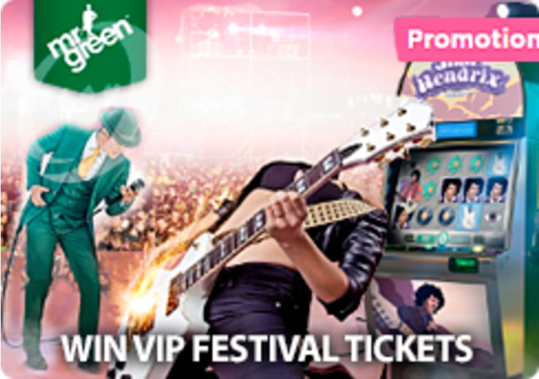 Win a VIP trip to one of the UK's biggest festivals with Mr Green