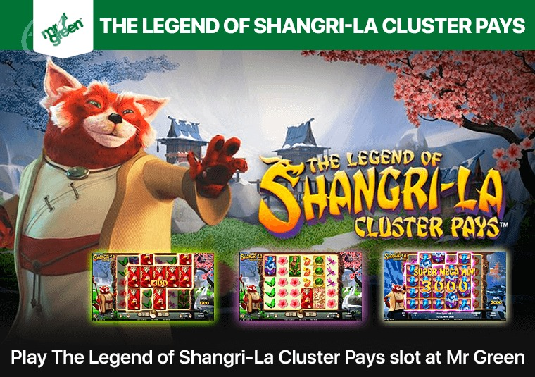 Play The Legend of Shangri-La Cluster Pays slot at Mr Green