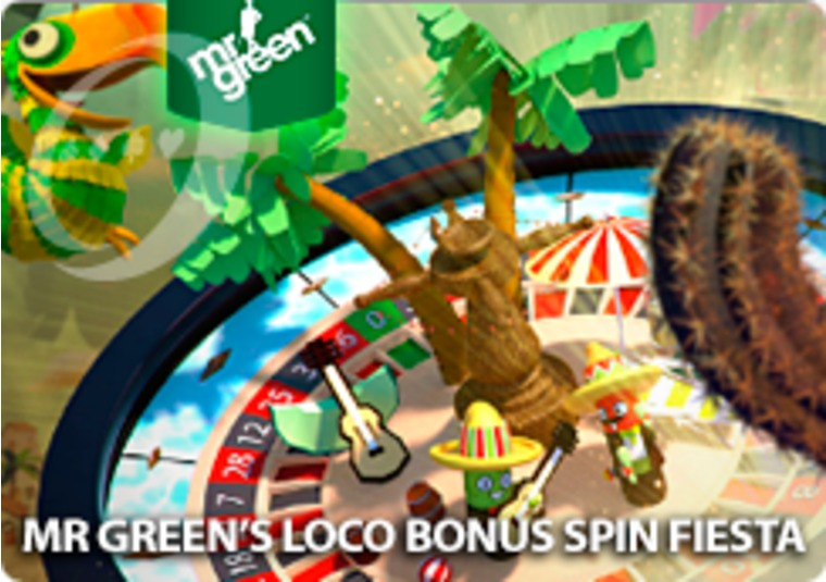 Win bonus spins on slots playing roulette at Mr Green