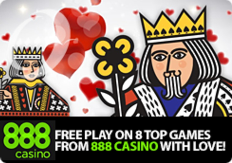 Free Play on 8 Top Games From 888 Casino With Love