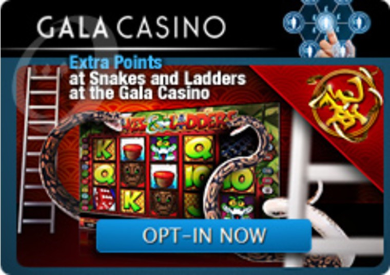 Extra Points at Snakes and Ladders at the Gala Casino