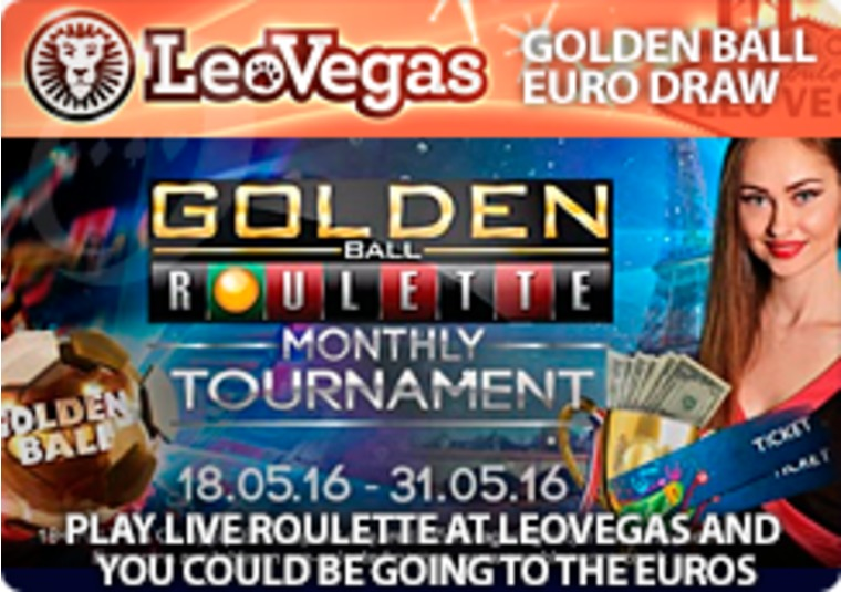 Play live roulette at LeoVegas and you could be going to the Euros