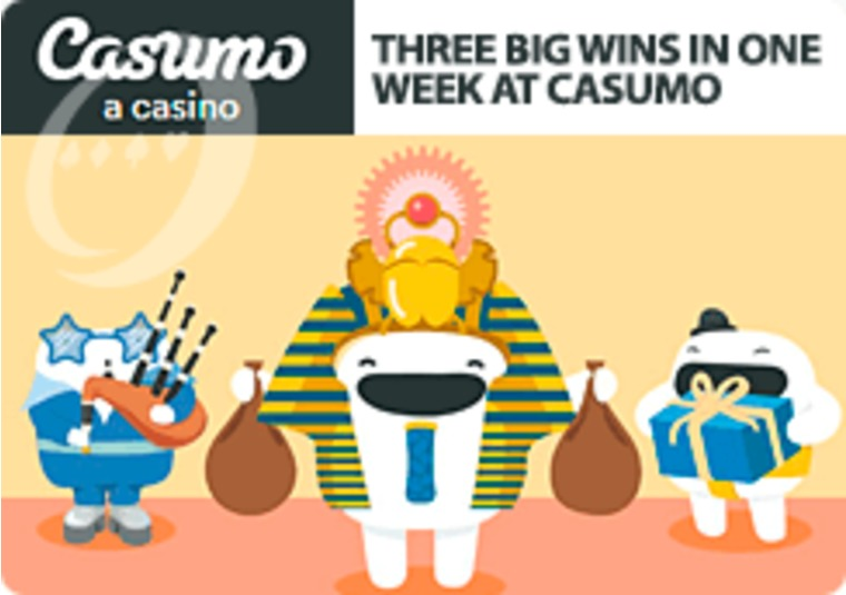 Casumo players scoop three big wins in one week