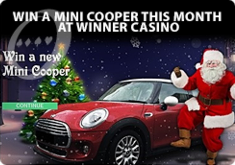Win a Mini Cooper this month at Winner Casino