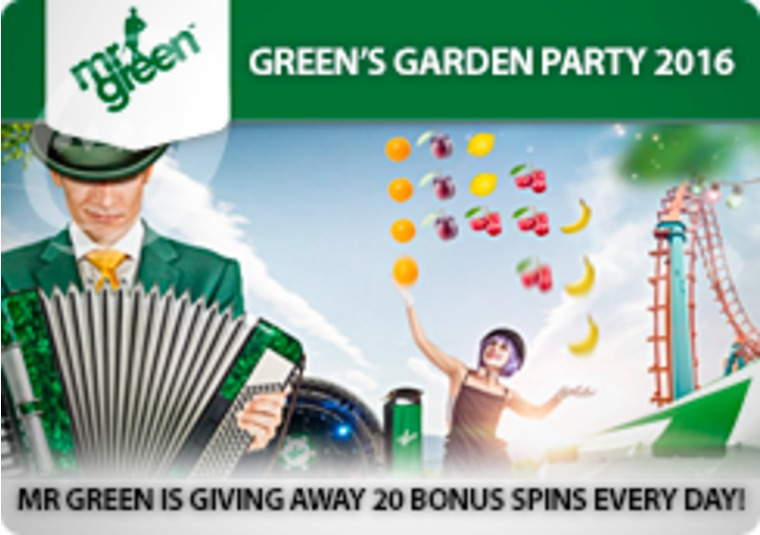 Mr Green is giving away 20 bonus spins every day!