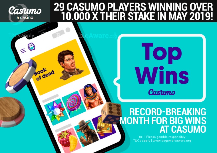 Record-breaking month for big wins at Casumo