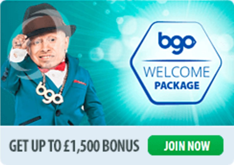 The welcome bonus at bgo is now worth £1,500